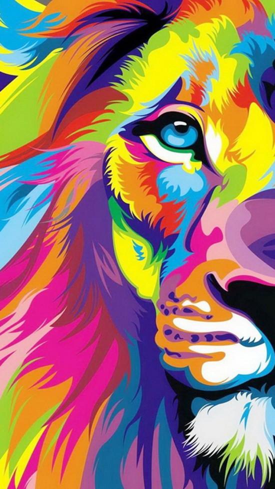 paint lion