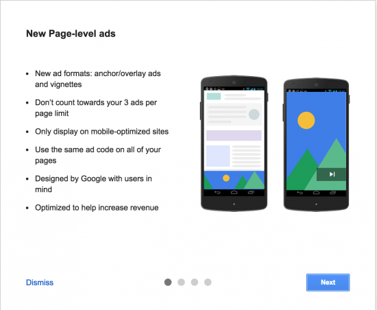 Page- level ads by Google