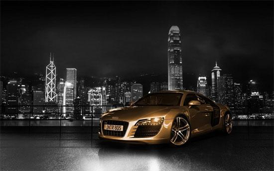 Audi R8 Gold