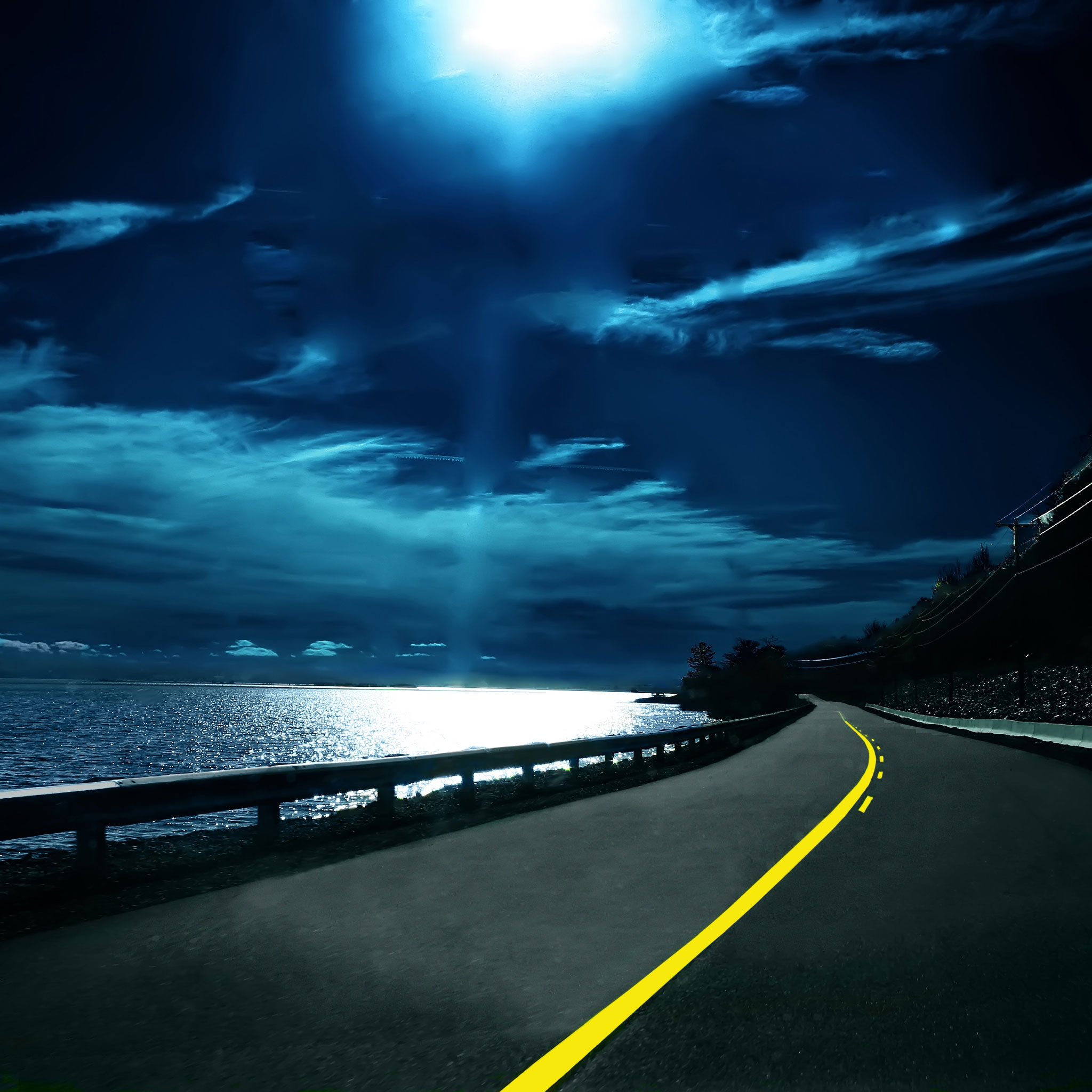Hd wallpaper ipad - Highway Nights