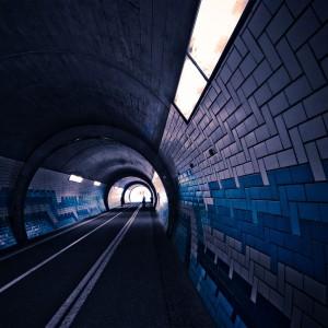 Streets Dark Cars Tunnel