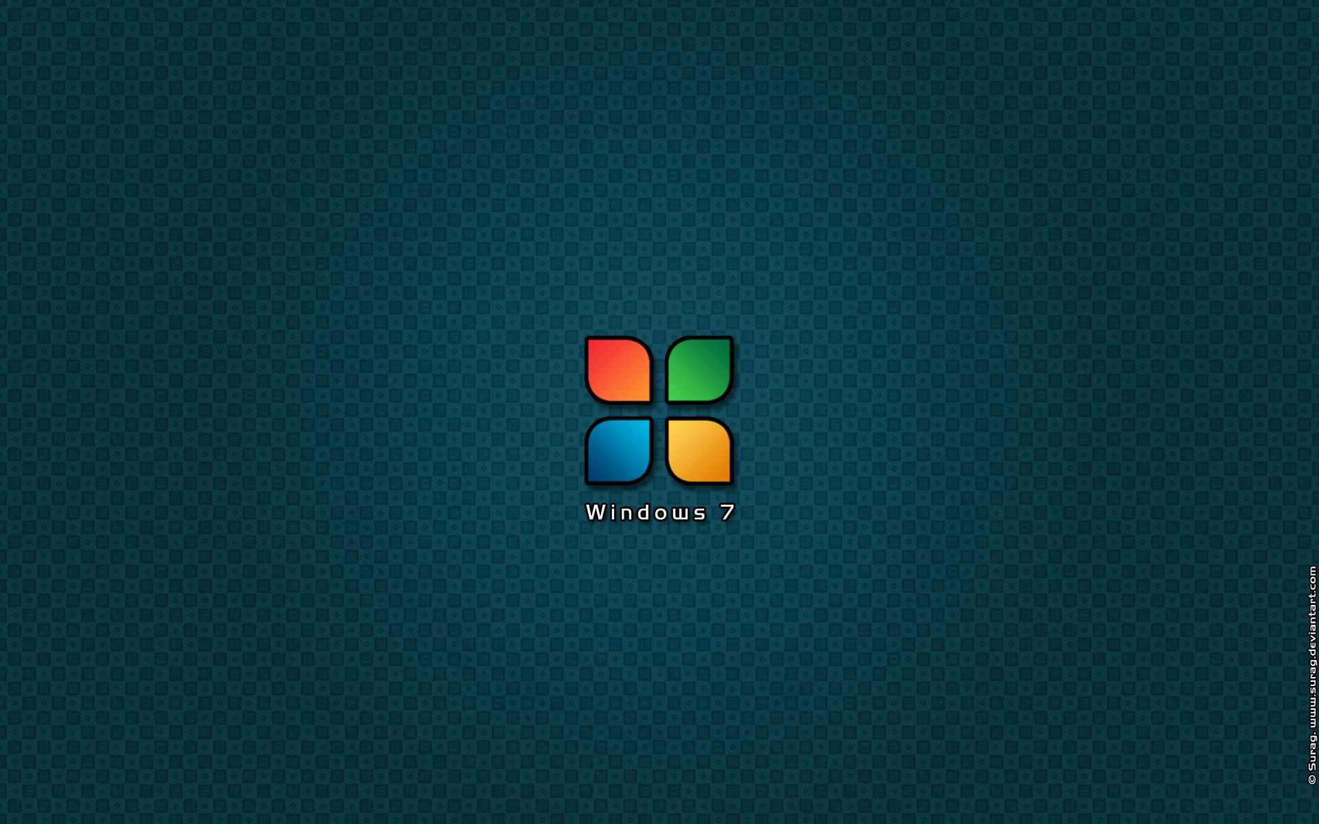 Minimal Windows 7 Wallpaper By Surag